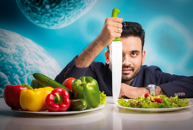 Cure.fit co-founder Ankit Nagori hopes most food delivery sales will be from Indian cuisine. Photo by Narendra Bisht.