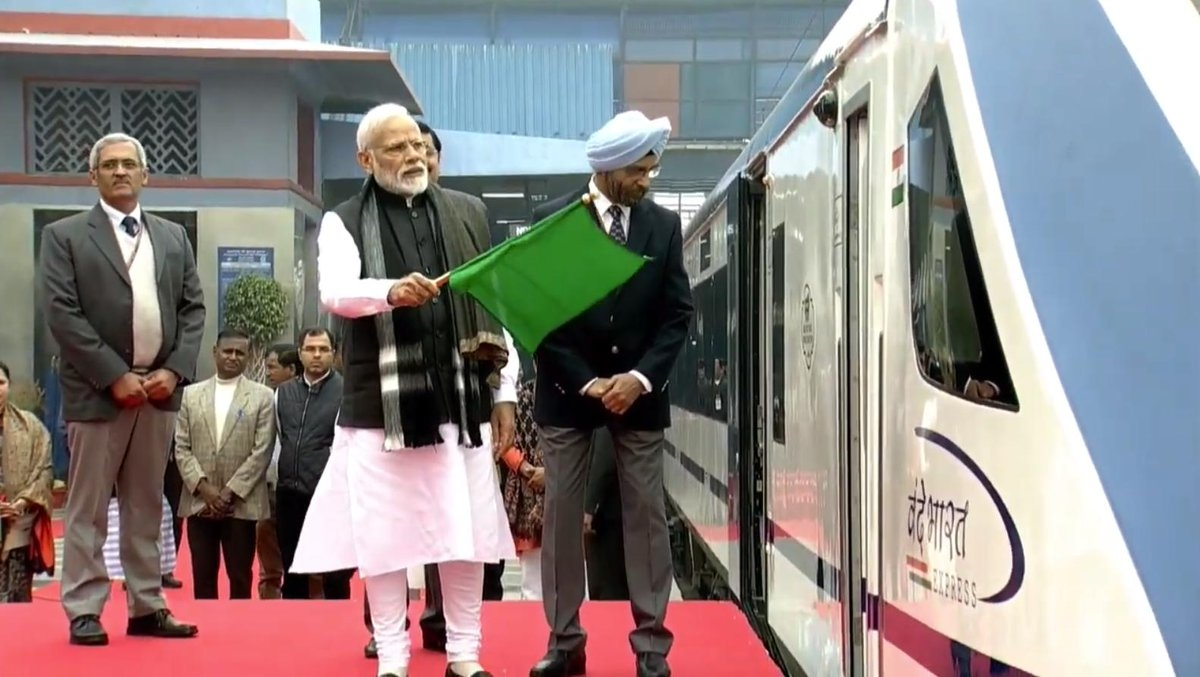 TestIndia's first semi-high speed train Vande Bharat Express makes commercial debut