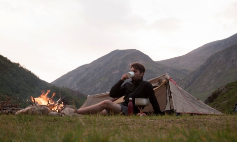 Time for a brew and a view … Glen Nevis, Scotland