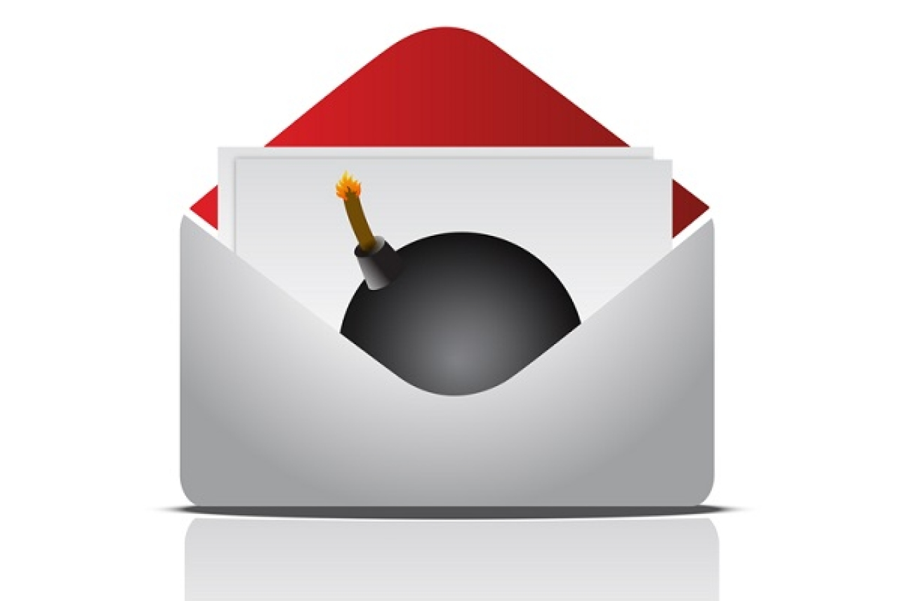 Envelope with a bomb