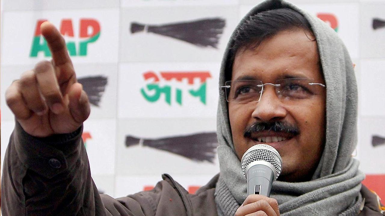 Arvind Kejriwal of the AAP
