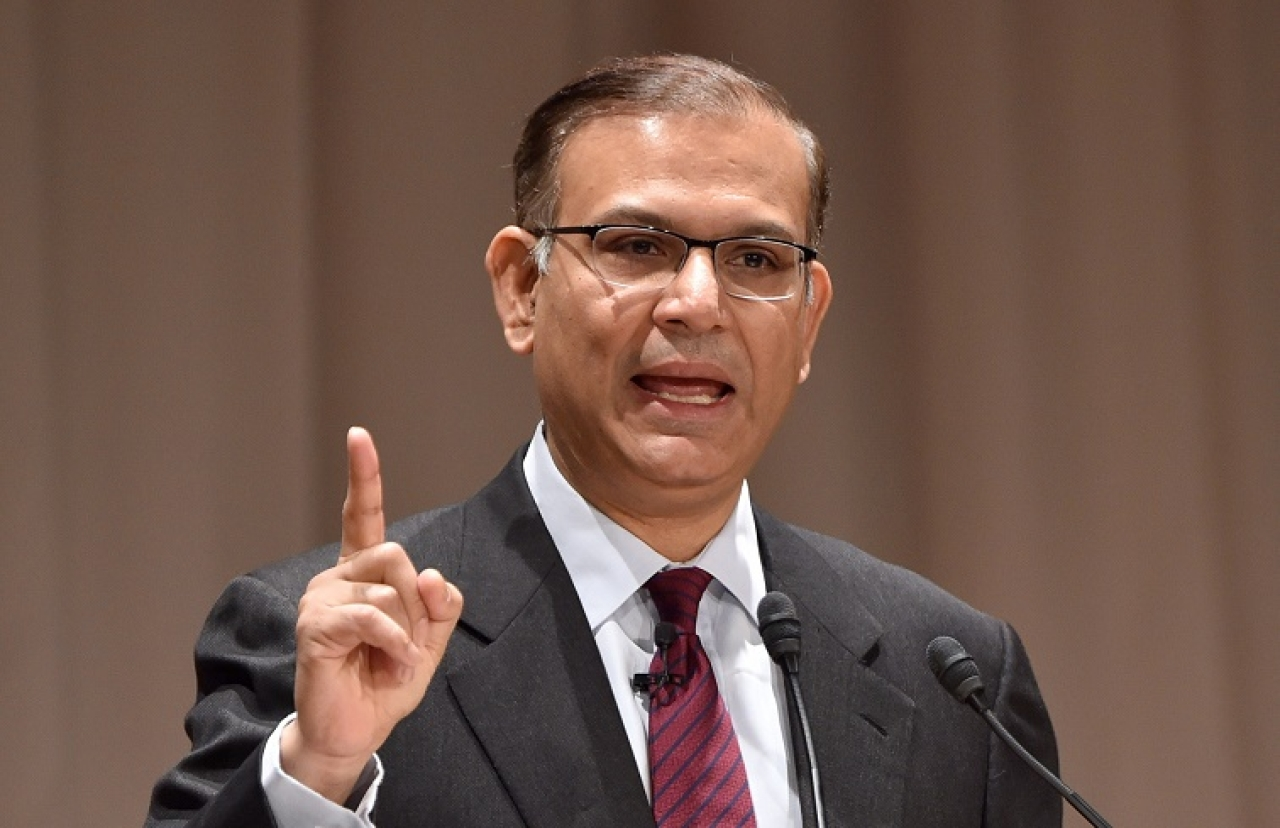 "India's Minister of State for Finance Jayant Sinha delivers a speech at the 21st International  Conference of The Future of Asia at a hotel in Tokyo on May 22, 2015. The two-day conference entitled ""Asia Beyond 2015: The Quest for Lasting Peace and Prosperity"" ends on May 21.  AFP PHOTO / KAZUHIRO NOGI        (Photo credit should read KAZUHIRO NOGI/AFP/Getty Images)"