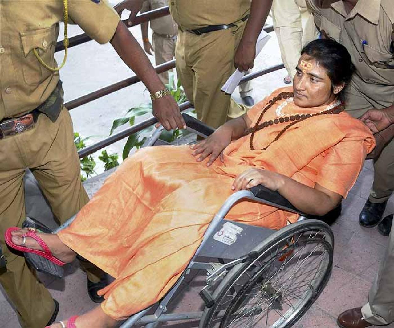 """Sadhvi Pragya, Photo Credit: <a href=""""http://www.hindujagruti.org/news/newstags/sadhvi-pragya"""" shape=""""rect"""">hindujagruti</a>"""