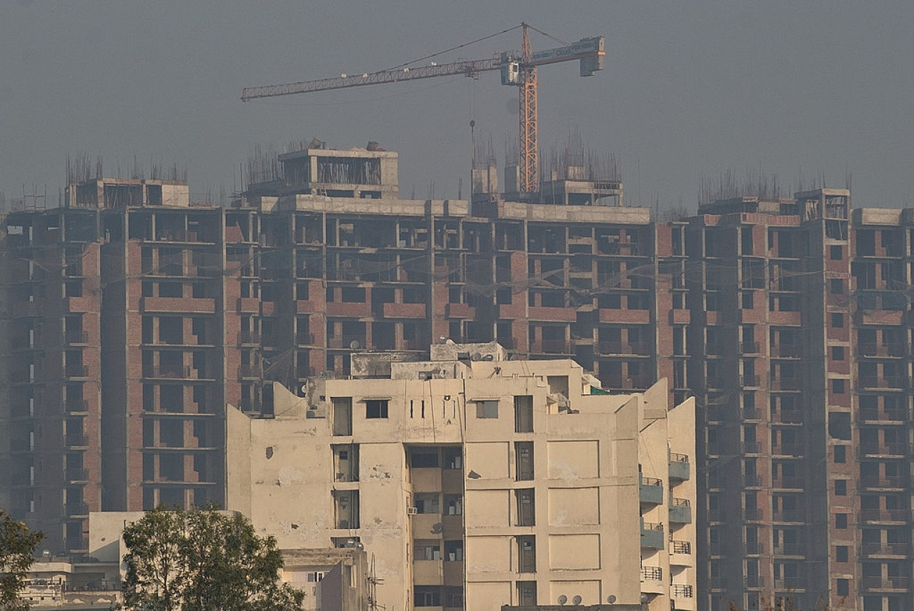 Buildings in urban India. (PRAKASH SINGH/AFP/Getty Images)