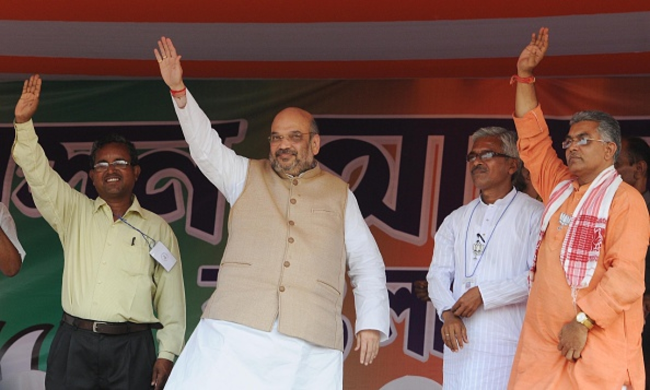 Amit Shah campaigns in West Bengal (Subhankar Chakraborty/Hindustan Times via Getty Images)