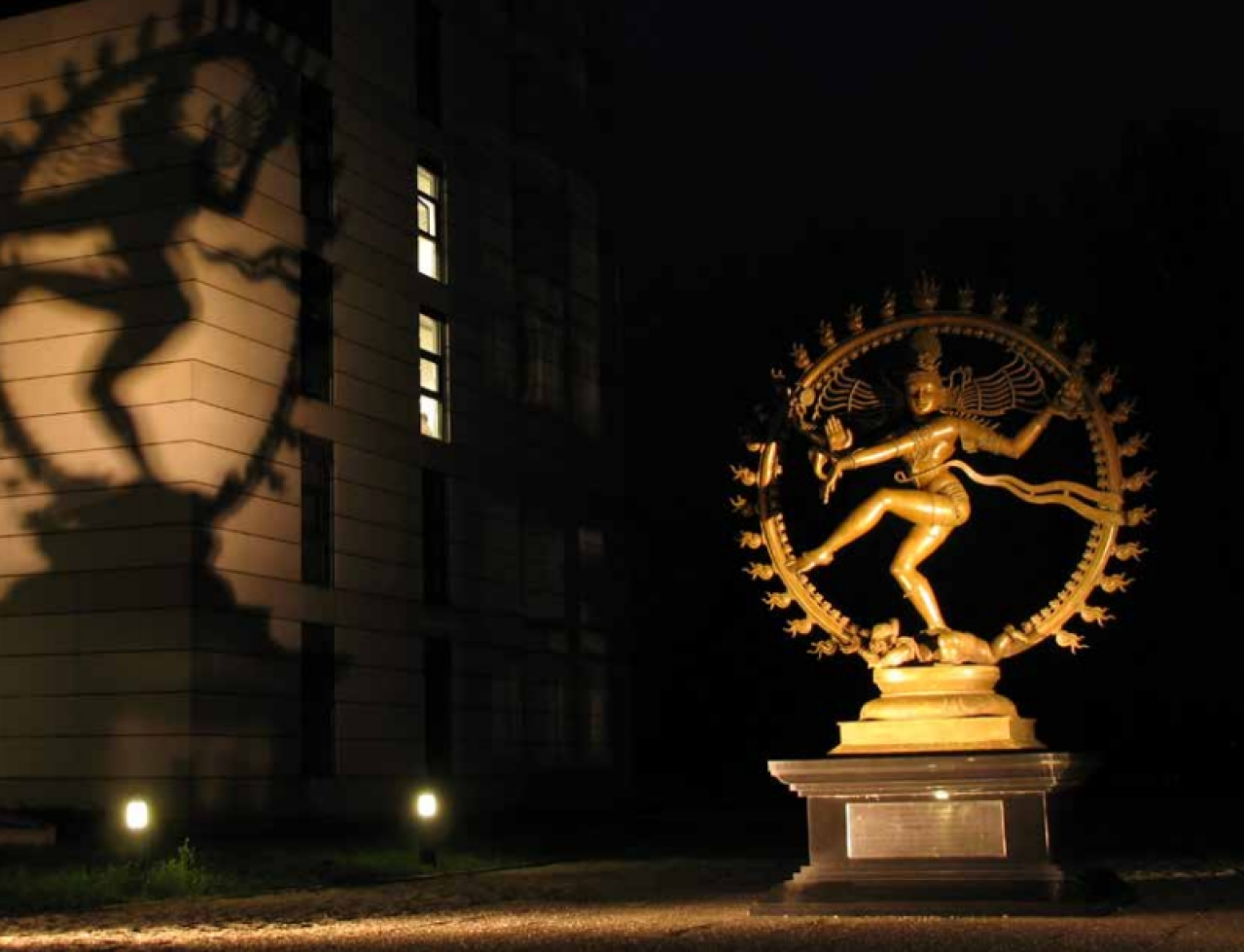 A popular  fantasy: that  CERN installed  a Nataraja  statue to  escape cosmic  annihilation  if the God  Particle was  discovered