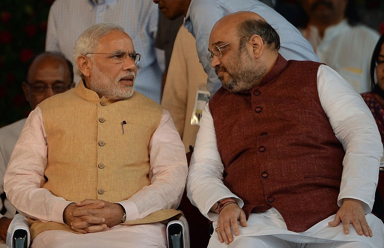 Narendra Modi and Amit Shah (PUNIT PARANJPE/AFP/Getty Images)