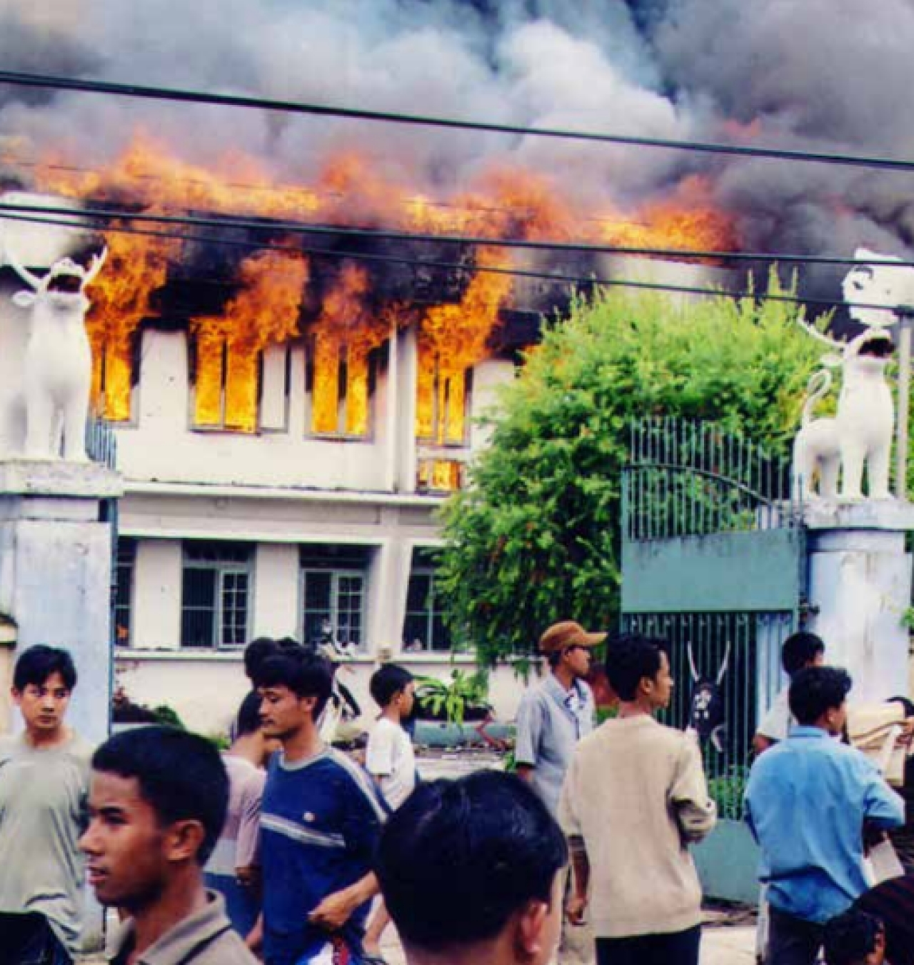 In 2001, the  Imphal Valley  erupted in  protests that  led to the state  Legislative  Assembly being  torched and  reduced to  ashes