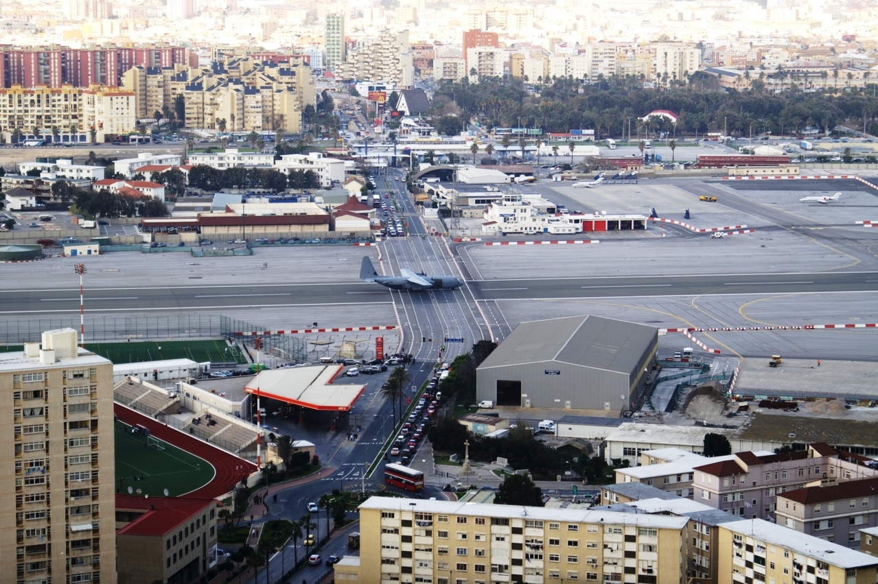 Gibraltar Airport, <i>By Dickelbers, from the Wikimedia Commons</i>