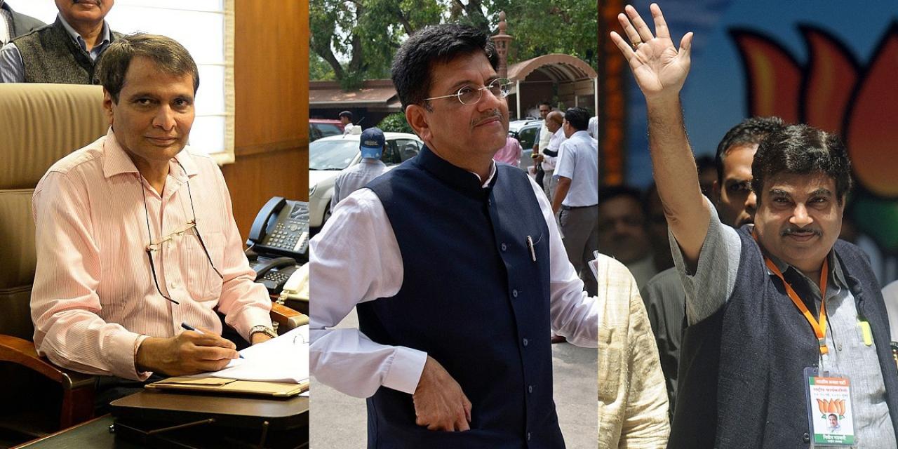 Suresh Prabhu, Piyush Goyal and Nitin Gadkari