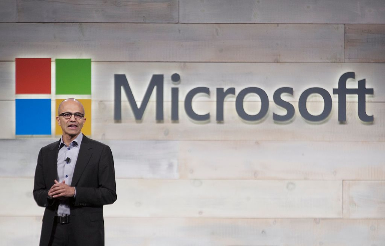 Satya Nadella of Microsoft (Stephen Brashear/Getty Images))