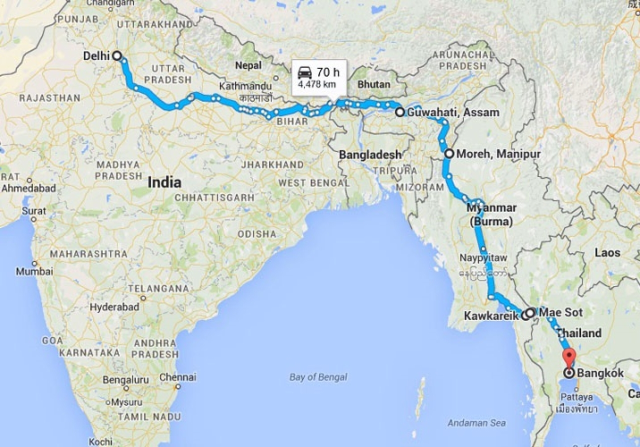 India myanmar thailand highway strategic dimensions google maps gumiabroncs Image collections