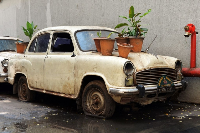 An govt Ambassador car in India (MANJUNATH KIRAN/AFP/Getty Images)