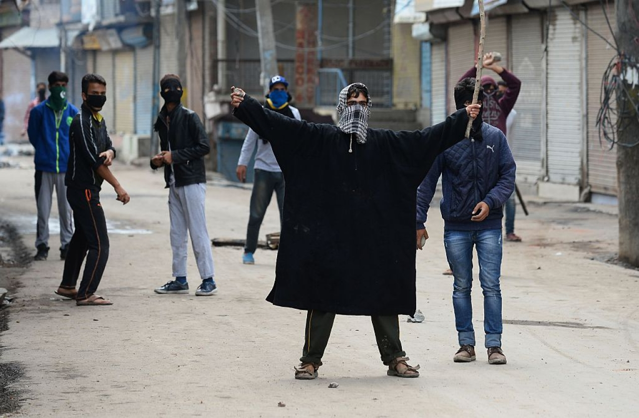 A protest in Kashmir (SAJJAD HUSSAIN/AFP/Getty Images))