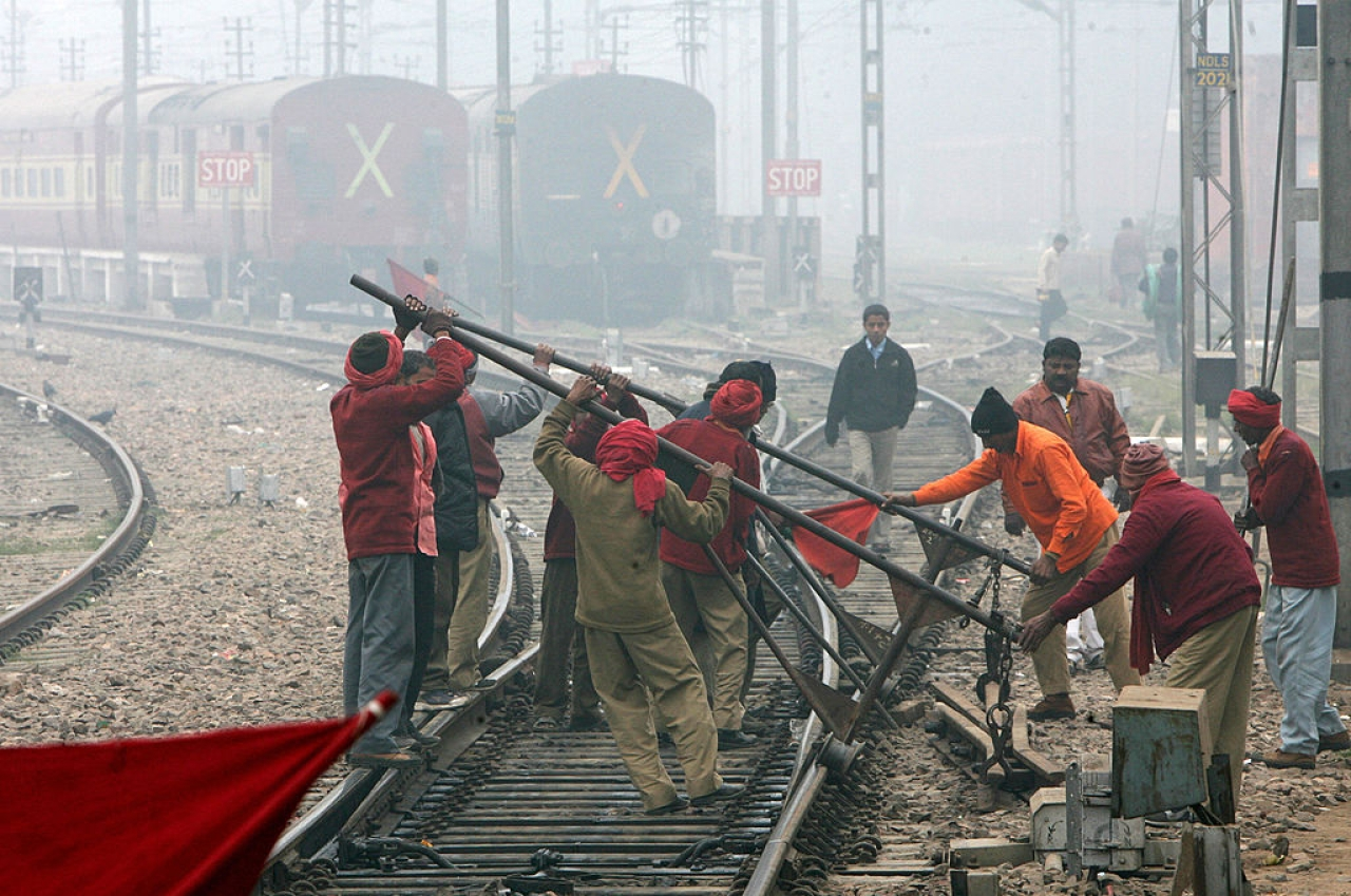 Six out of every ten rail accidents in India have happened because of mistakes by or the negligence of railway staff. (RAVEENDRAN/AFP/Getty Images)