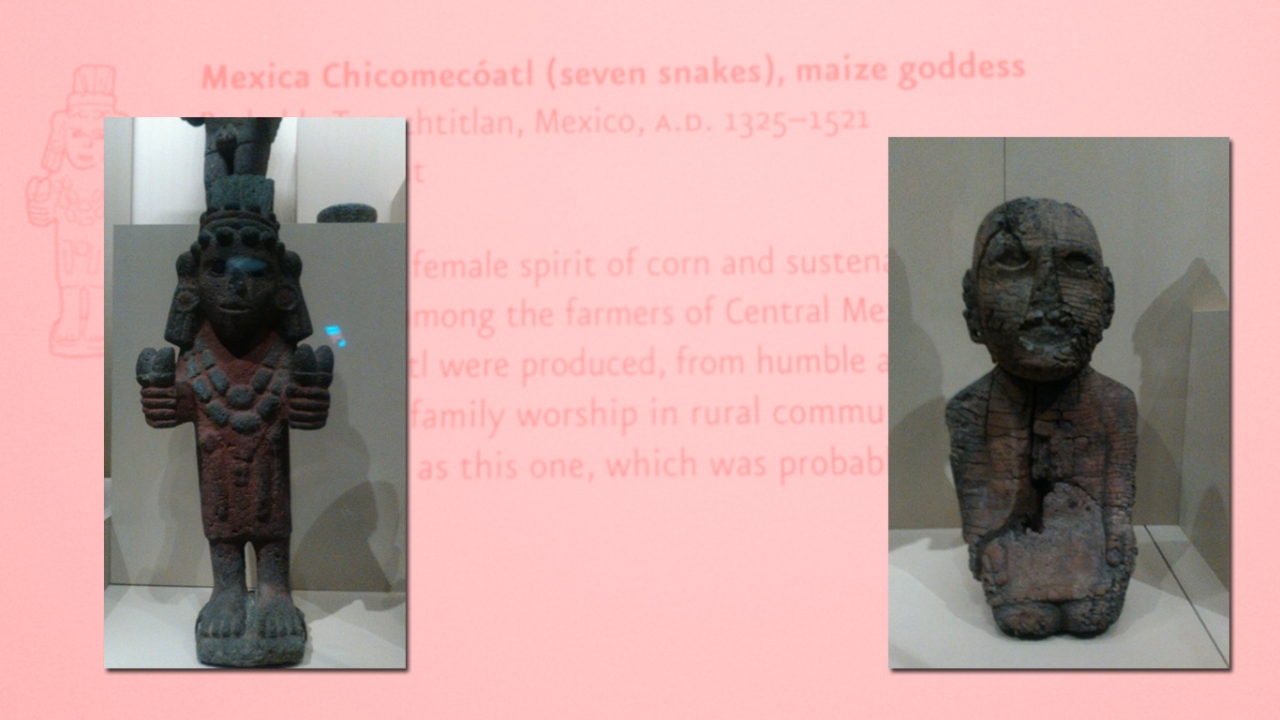 Goddesses Chicomecoatl and Matlazinca, National Museum of the American Indian, New York