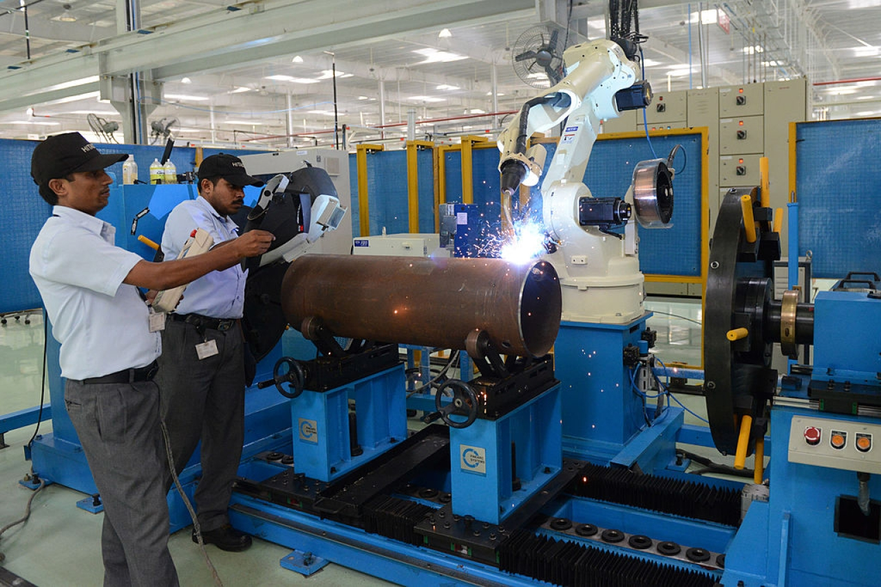 An Indian industrial unit (SAM PANTHAKY/AFP/Getty Images)