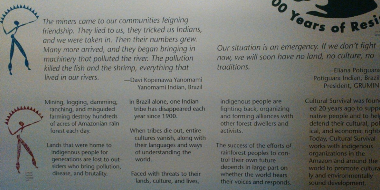 Exhibits on Kuna People, Peabody Museum of Archaeology and Ethnology, Harvard University
