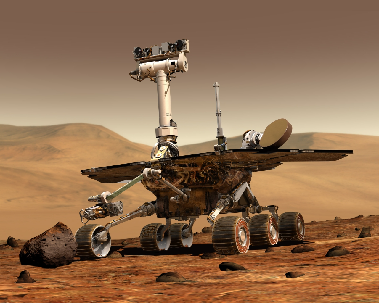 Artist's rendering of a Mars Exploration Rover