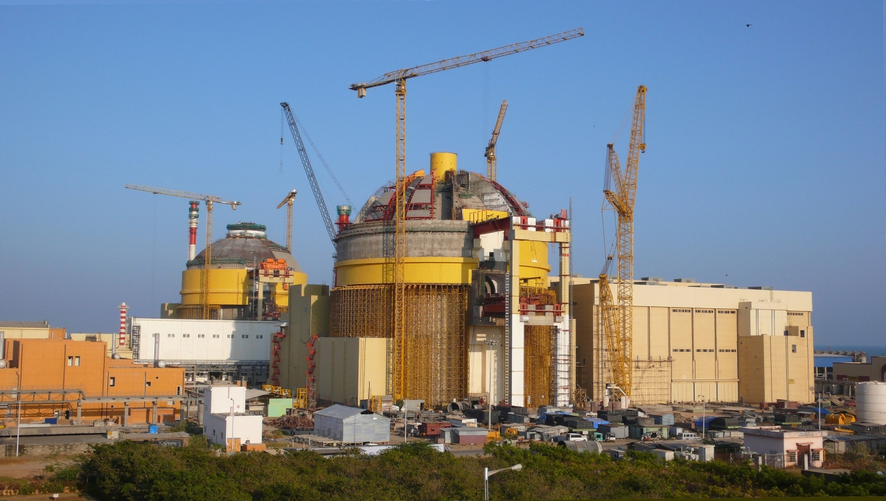Construction site of the first unit of Koodankulam Nuclear Power Plant. (IAEA)