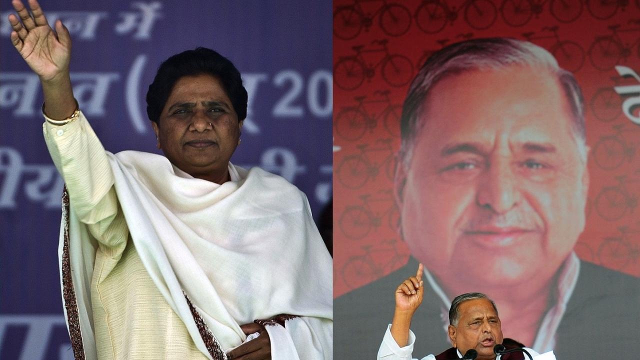 Mayawati and Mulayam Singh