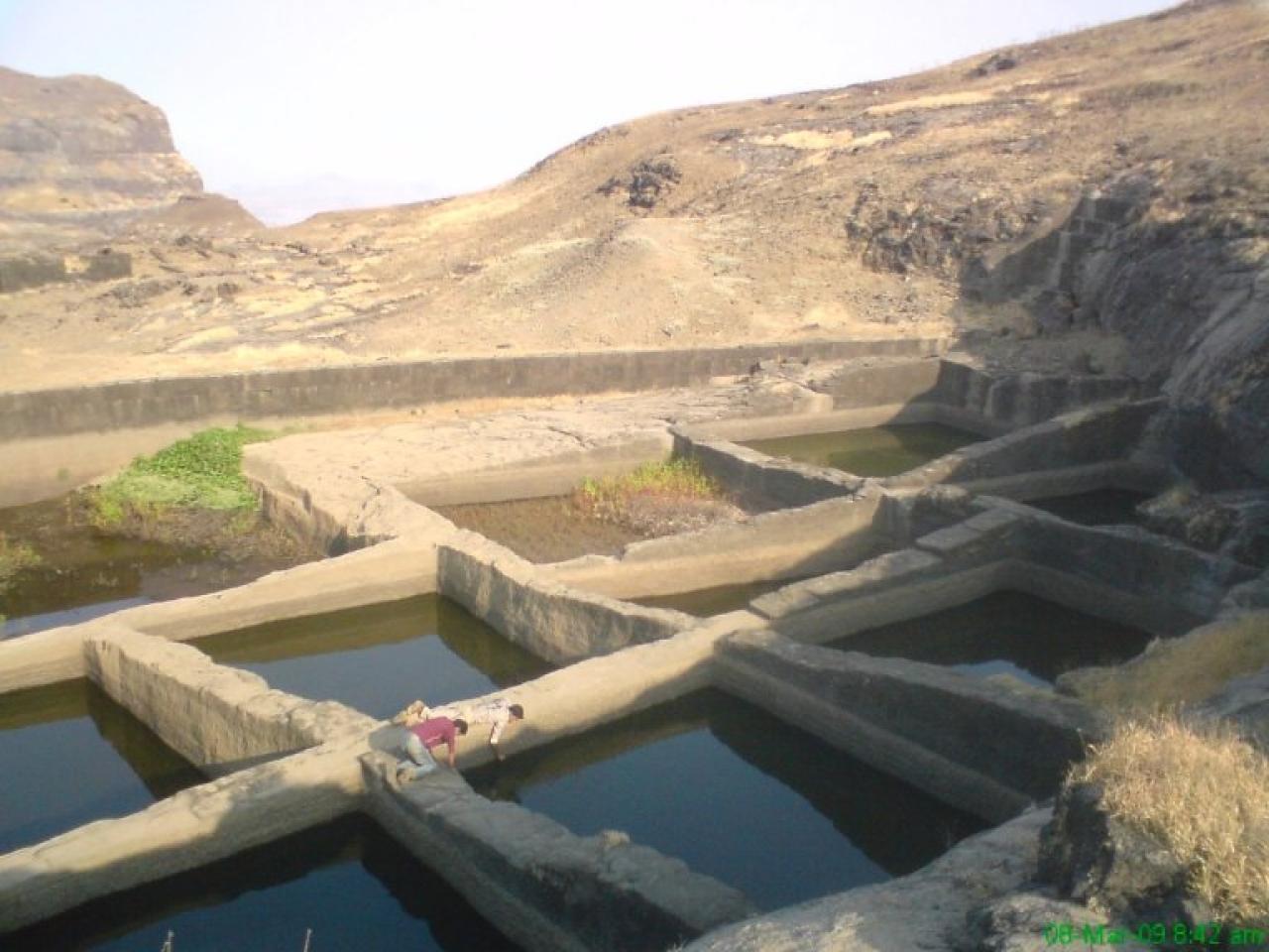 Water tanks at Alang fort
