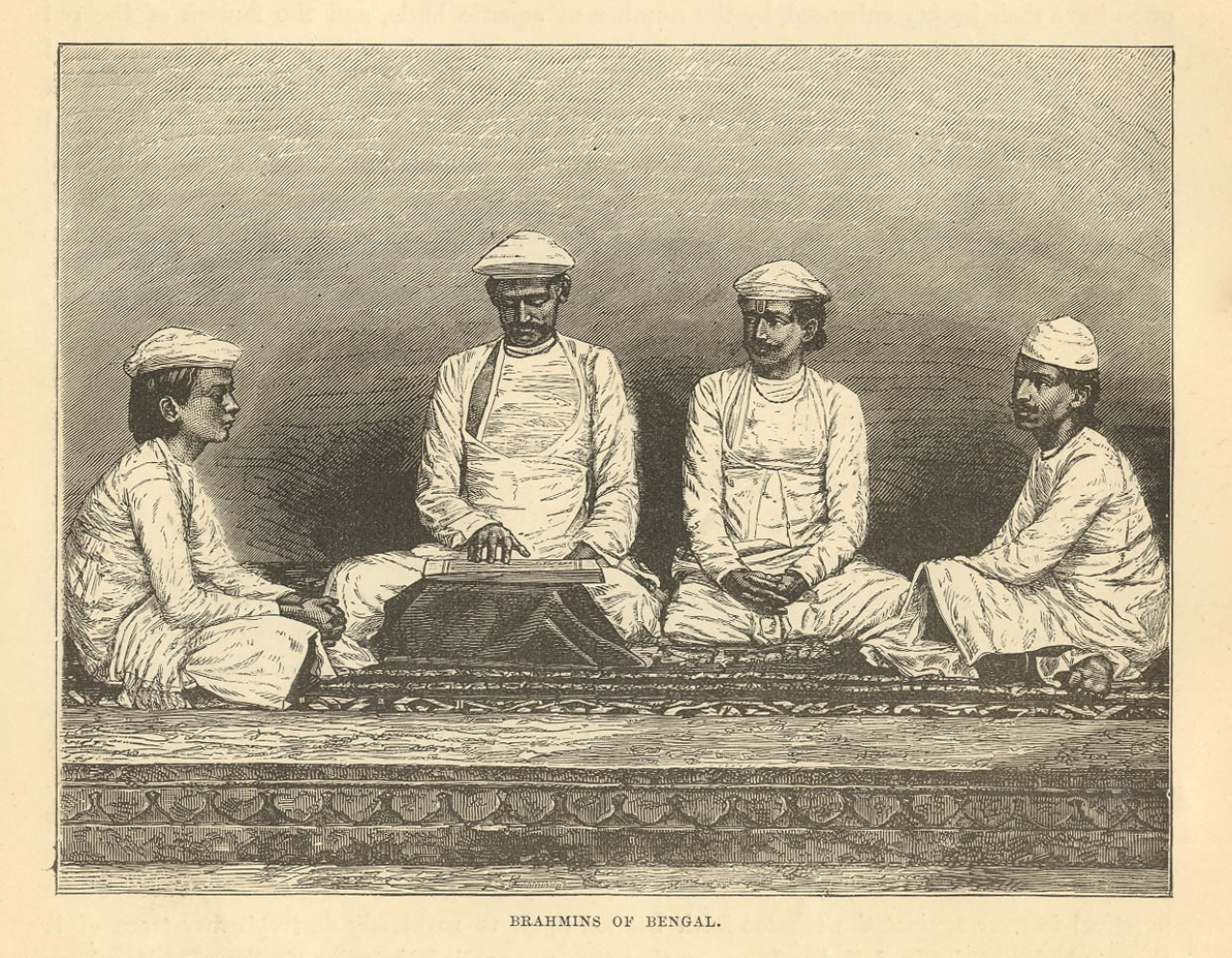 """Brahmins of Bengal,"" from 'The World: its Cities and Peoples', by W. W. Birdsall, 1892 (Wikimedia Commons)"