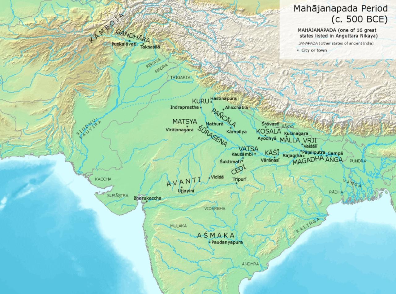 Mahajanpadas in India (Avantiputra7/Wikimedia Commons)