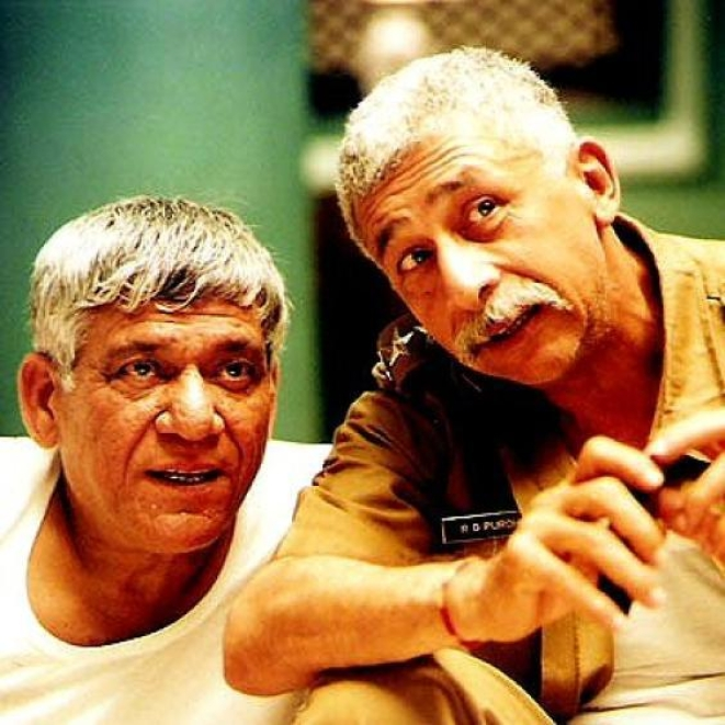 The kings of good times: Om Puri with friend Naseeruddin Shah