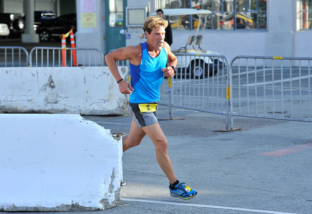 Ultra-marathoner Dean Karnazes participates in the 10th Annual URBANATHLON  in San Francisco, California. (Steve Jennings/Getty Images for Men's Health)