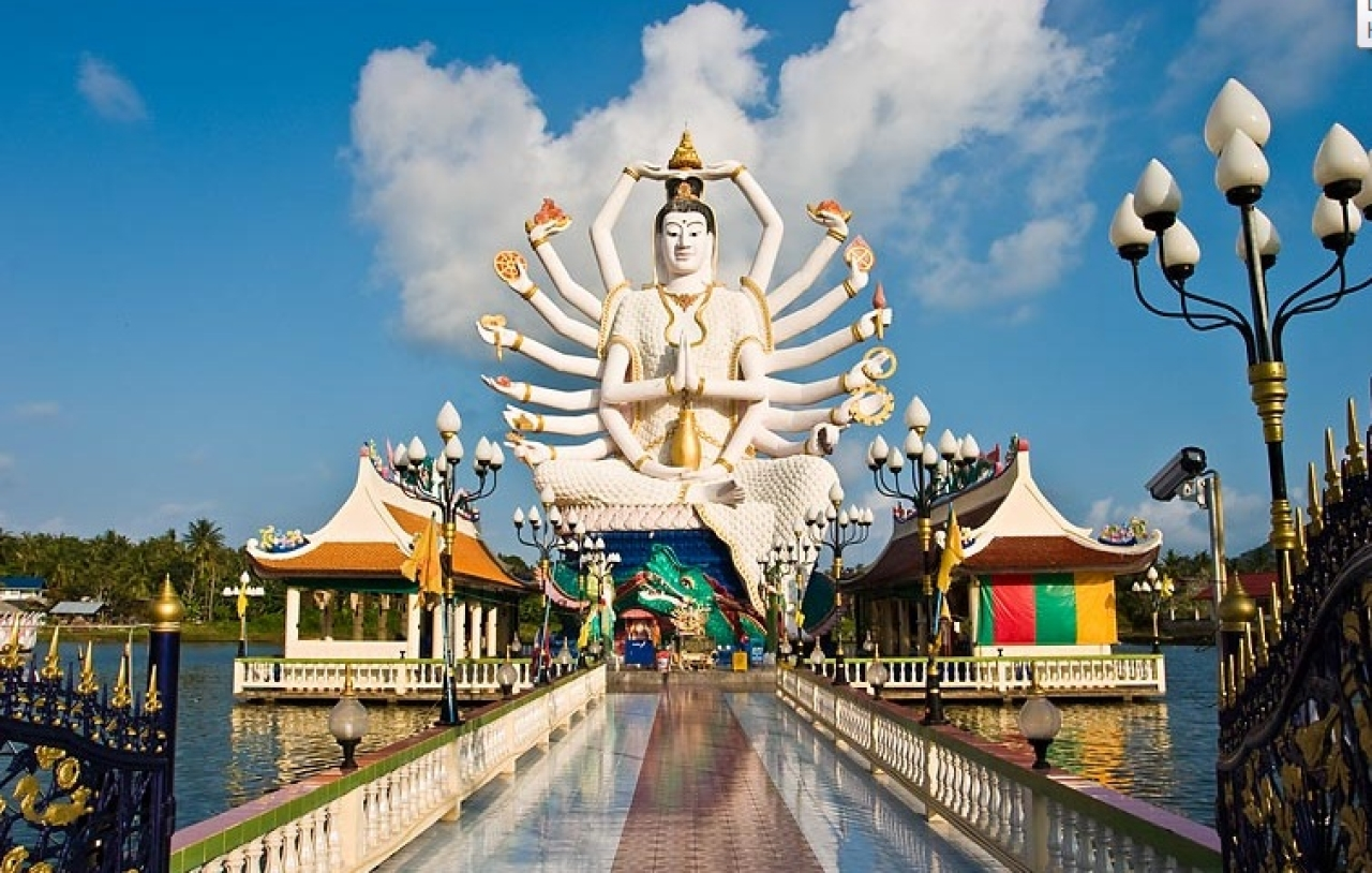 Giant statue of Lord Shiva in Koh Samui, Thailand.