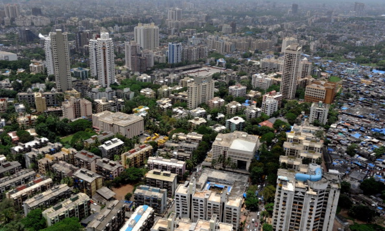 Residential apartment blocks in the heart of Mumbai. (PUNITPARANJPE/AFP/GettyImages)