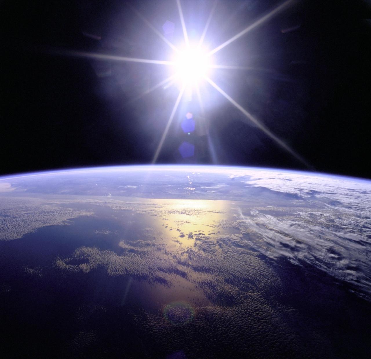 Sunburst over the Earth. (Image Credits: NASA)