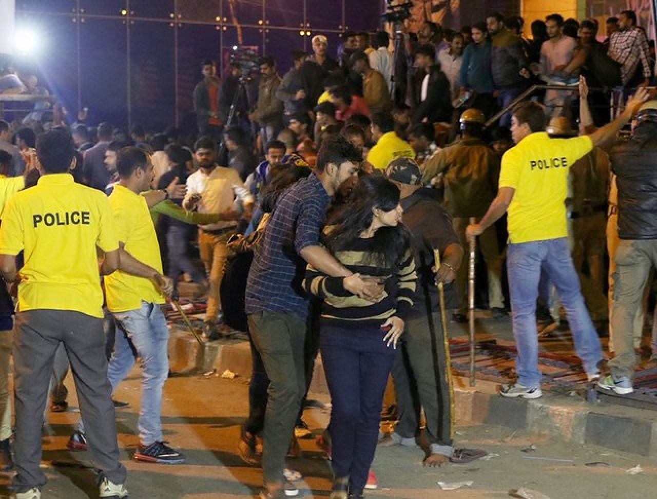 Women being molested on the streets of Bengaluru on New Year's Eve