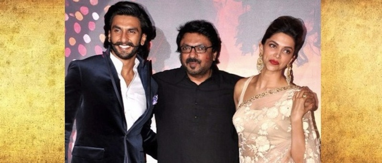 Ranveer Singh, Sanhay Bhansali and Deepika Padukone (Bollywood Hungama/Wikimedia Commons)