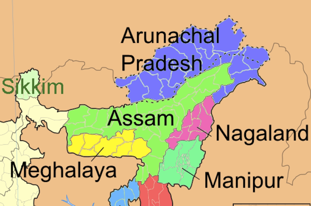 Northeast map