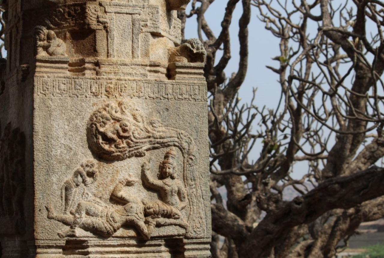 Rama, Lakshmana and Hanuman.