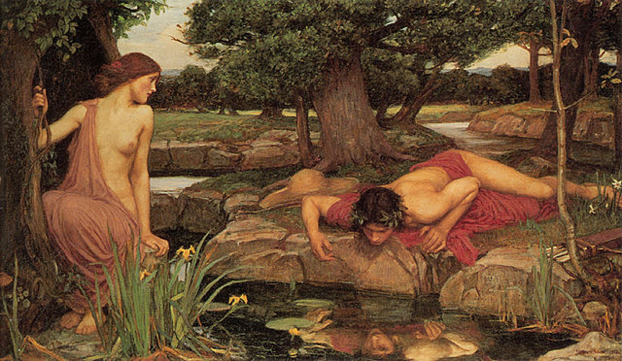 <i>E</i><i>cho And Narcissus</i>, John William Waterhouse. Wikimedia Commons