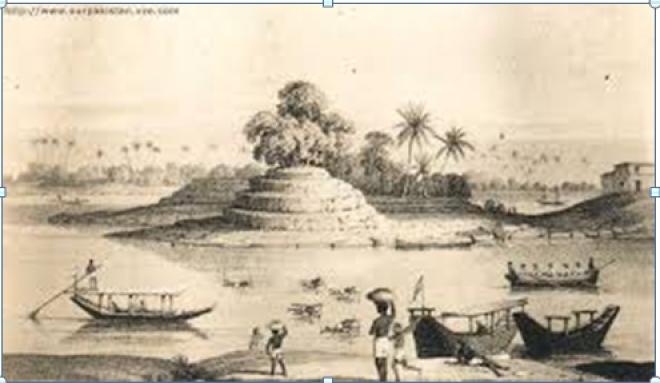 Shrine of khwaja Khizr. Sindh, 1838