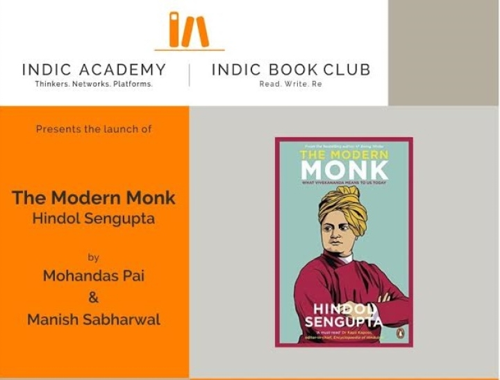 Indic Academy Event: Book Launch Of Hindol Sengupta's 'The Modern Monk' By Manish Sabharwal