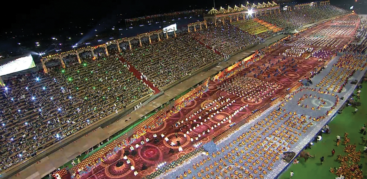 The World Culture Festival on the banks of Yamuna.