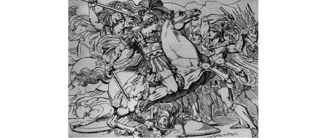 Alexander the Great, on his horse Boucephalus. (Hulton Archive/Getty Images)