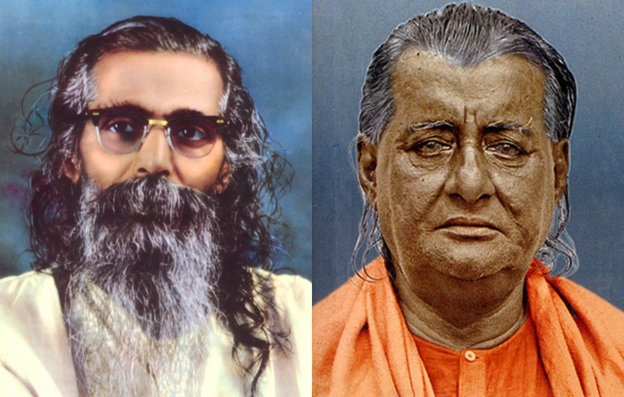 'Guruji' Golwalkar's Guru  (right) was a direct disciple of Sri Ramakrishna. He was moved by the condition of a Muslim girl in famine and decided to serve humanity in that very village, suspending the pilgrimage he was undertaking.