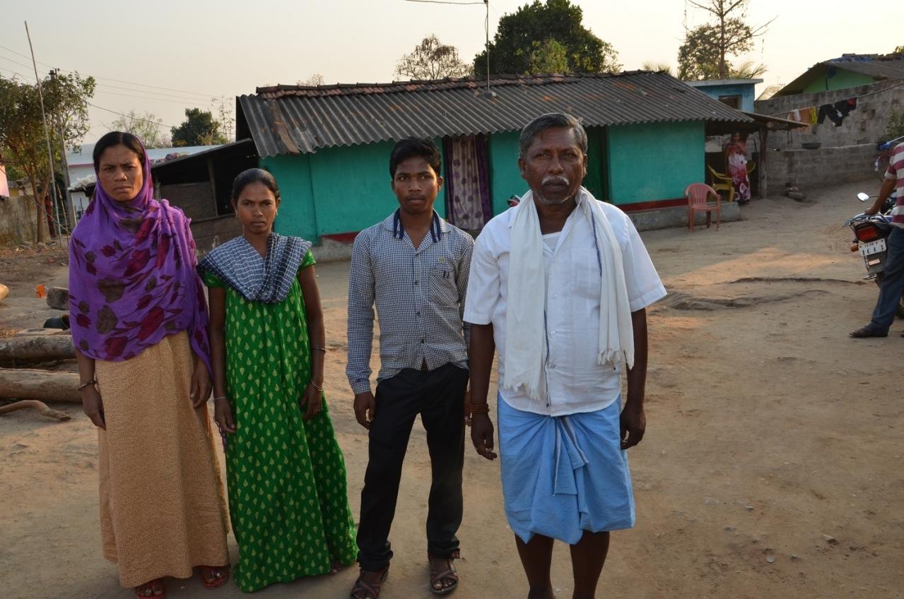 Mangu Hemla with his family at Shantinagar