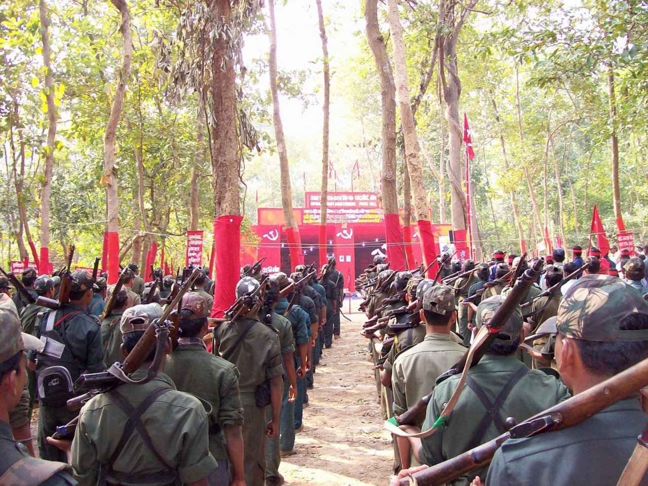 A Maoist rally (Wikimedia Commons)