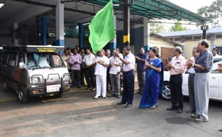 ISRO Demonstrates Indigenously Developed  Solar Hybrid Electric Car
