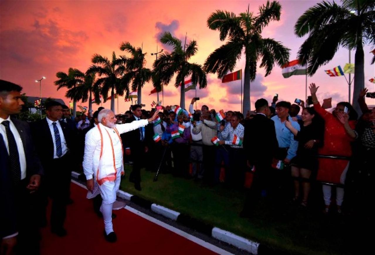 Prime Minister Narendra Modi in Colombo during his Sri Lanka visit.