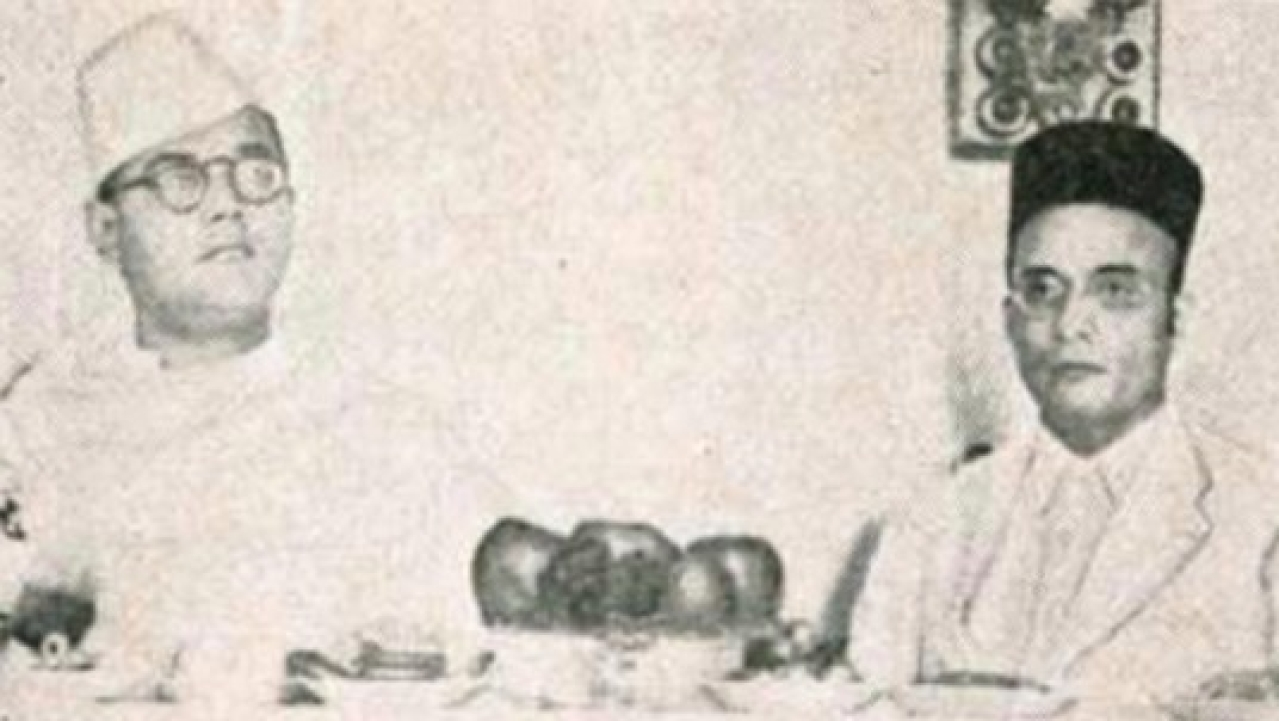 Savarkar with Subhas Chandra Bose