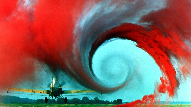 Turbulence in the tip vortex from an airplane wing. (NASA)