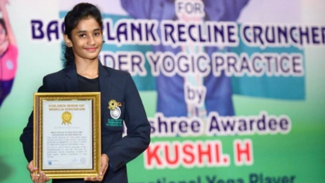 Watch: 13-Year-Old Mysuru Girl Sets A World Record In Yoga